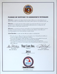 Top Care is a proud participant in Missouri's Show-Me Heroes program.